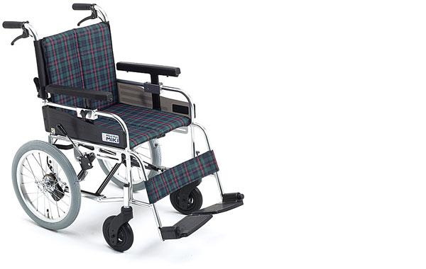 車椅子 軽量 アルミ介助式車椅子 MYU166JD ミキ(車椅子 車いす 車イス)