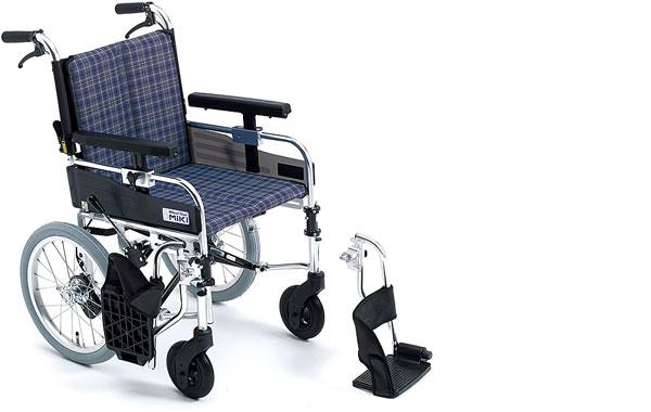 車椅子 軽量 アルミ介助式車椅子 MYU166JDSW  ミキ(車椅子 車いす 車イス)