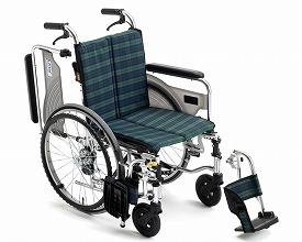 車椅子 軽量 アルミ製自走式車いす スキット4 SKT-4Lo ミキ(車椅子 車いす 車イス)