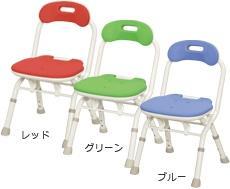 シャワーチェア 折りたたみシャワーベンチFC背付タイプ 安寿 介護用 風呂椅子 介護用品 smtb-KD