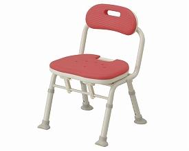 コンパクト折りたたみシャワーベンチIC(背付タイプ) 安寿 介護用 風呂椅子 風呂イス 風呂いす 介護 椅子 入浴補助 介護用お風呂いす