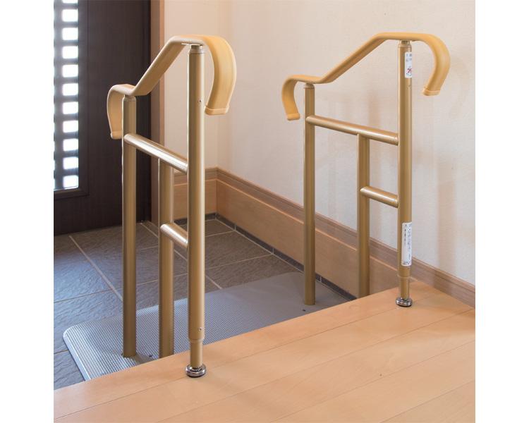 上がり框 てすり 玄関用ベストサポート手すり ロータイプ両手すり / 626-012 シコク smtb-KD