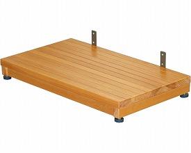玄関台 木製ステップ台 高さ8~10cm TST-04A ブラウン  矢埼化工 踏み台 木製