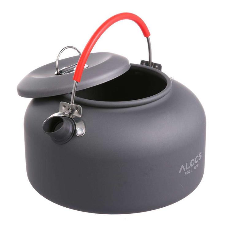 ALOCS キャンプ・アウトドア用ケトル ポータブル 携帯用 やかん 0.8L 軽量 登山 BBQ 硬質アルミ LP-ALOCWK02 送料無料 キャッシュレス 還元