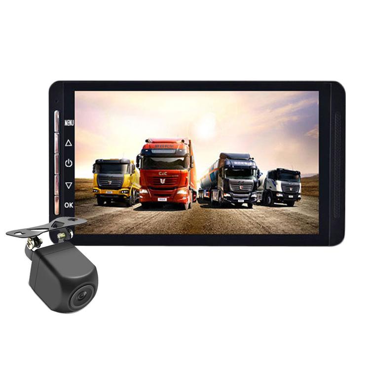 暗視仕様 バックカメラ付属 12/24V車対応 トラック向けドライブレコーダー 7インチ液晶モニター 前後カメラ同時記録 1080P Gセンサー 循環録画 大型車対応 28m配線付き LP-DRU460NEW キャッシュレス 還元