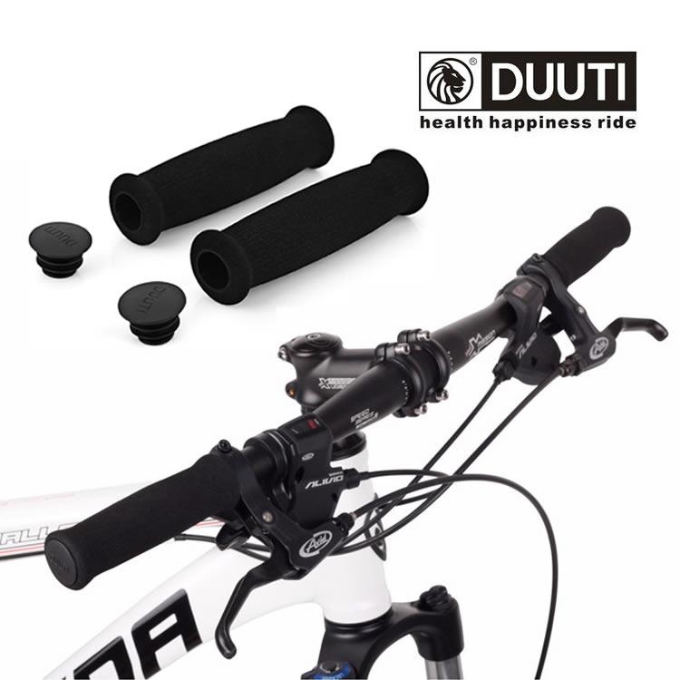 左右セット 自転車ハンドルグリップ スポンジ カバー エンドプラグ付き 送料無料 取り付け簡単 LP-DUTSG02S ショッピング サイクリング ご注文で当日配送 軽量