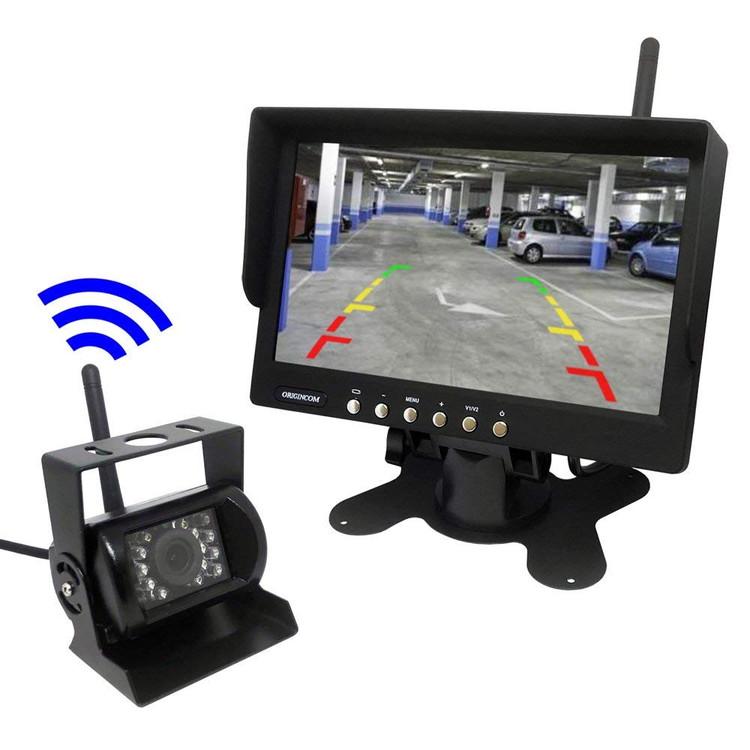 無線バックカメラセット 無線で配線要らず DC12V/24V車対応 IP67防水仕様 ガイドラインあり 7インチオンダッシュモニター LP-OMT76SET キャッシュレス 還元