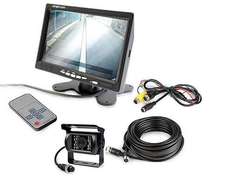 バックカメラセット トラック・重機・バス 7インチモニター 20Mケーブル 6ヵ月保証付 バックカメラ 24V対応 LP-OMT70SETPRO-6H キャッシュレス 還元