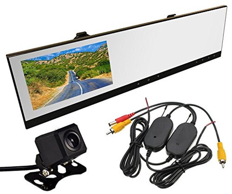 720Pルームミラードラレコ+ワイヤレスキット+バックカメラ 3点セット 4.3インチ薄型大画面モニター 日本車仕様向け 液晶左側 安全運転 運転記録 小型カメラ LP-VC100WBTA206 キャッシュレス 還元