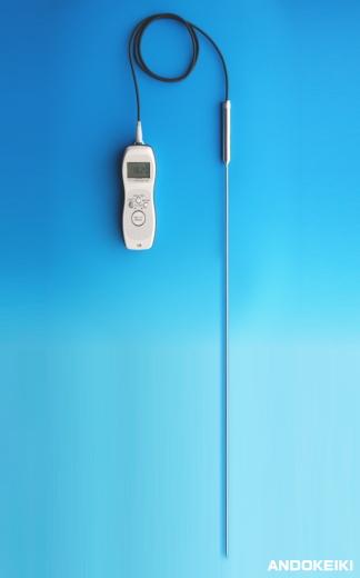 安藤計器 0.01℃デジタル標準温度計 (高温用1000mm白金センサ付) ADS-100-HT1000