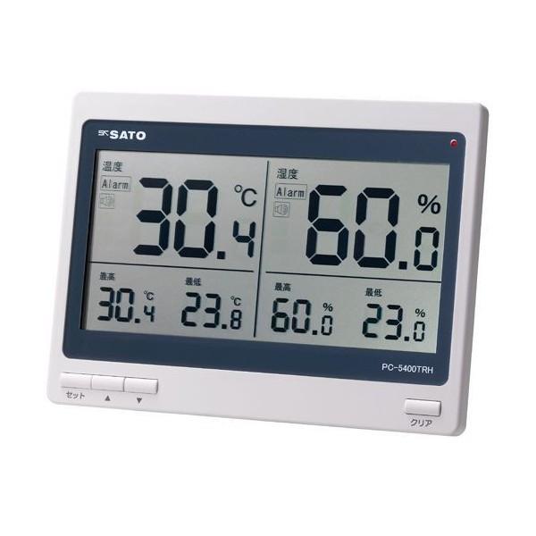 SATO 佐藤計量器 デジタル温湿度計 PC-5400TRH 1074-00 (0~50℃)