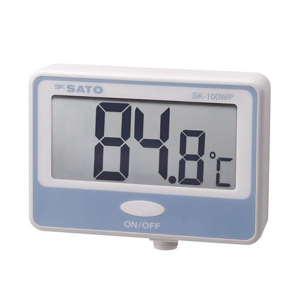 SATO 佐藤計量器 壁掛型防水デジタル温度計 SK-100WP (指示計のみ) 8050-00