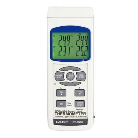 CUSTOM カスタム データロガー 4チャンネル温度計 CT-05SD