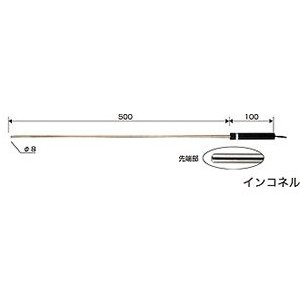 CUSTOM カスタム CT-5000WPシリーズ専用 センサー(非防水) KS-1200i (-40~1200℃)