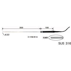 CUSTOM カスタム Kタイプ熱電対温度計用 センサー (非防水) LK-800W (-40~800℃)