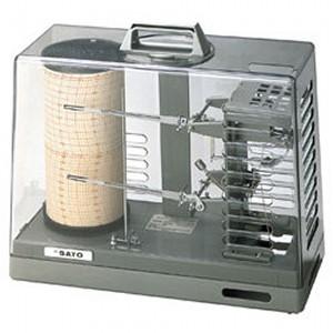 SATO 佐藤計量器 シグマII型温湿度記録計 手巻き式 7215-00