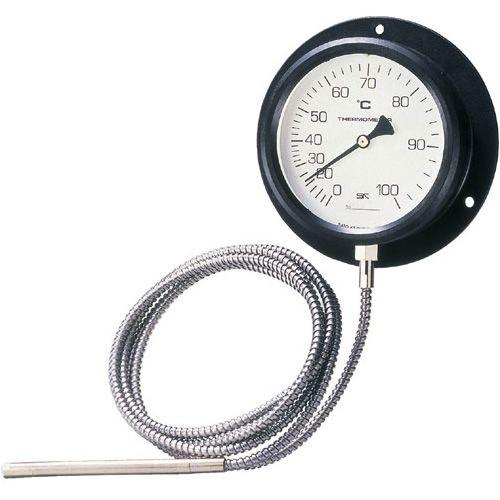 離れた場所の温度を測定する工業用温度計  SATO 佐藤計量器 壁掛型隔測式温度計 VB-100P 0~80℃ 4300-08