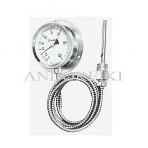 安藤計器 蒸気圧式 隔測温度計 (100Φ R1/2ユニオンネジ付き) A2-100-0100-100W