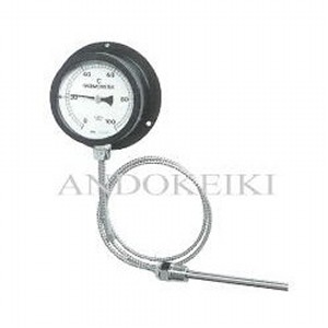 安藤計器 無公害液式 隔測温度計 (100Φ R1/2ユニオンネジ付き) C-100-050-100W (0~50℃)