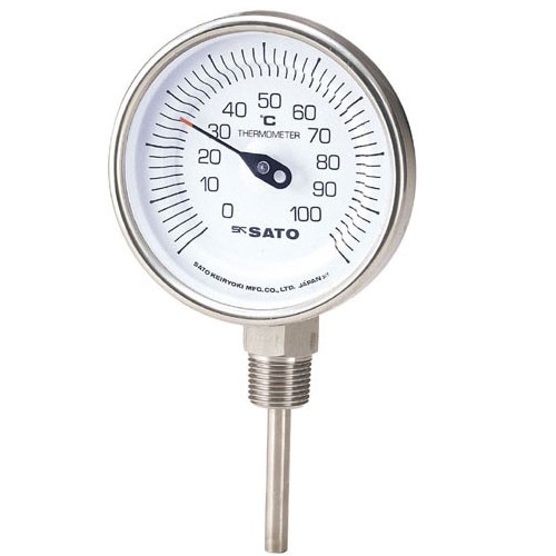 SATO 佐藤計量器 バイメタル温度計 BM-S-90Sシリーズ (0/150℃ L=200mm) 2030-66