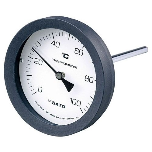 SATO 佐藤計量器 バイメタル温度計 BM-T-100P (0~100℃ L=100mm) 2080-14