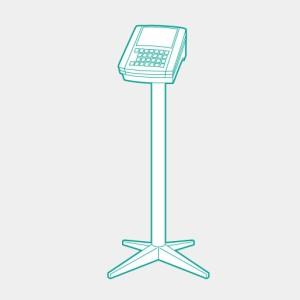 TERAOKA 寺岡精工 デジコンポシリーズ インジケーターDIX用オプション 分離スタンド ロングポール 80cm