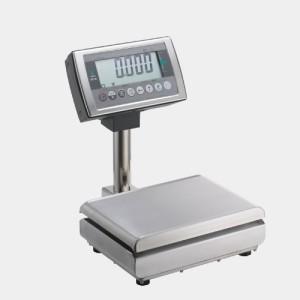 強靭なボディに卓越した耐久性  TERAOKA 寺岡精工 防水一体型スケール 卓上タイプ DS-55 S-WP 6KG/15KG (乾電池タイプ) (秤量:6kg/15kg)