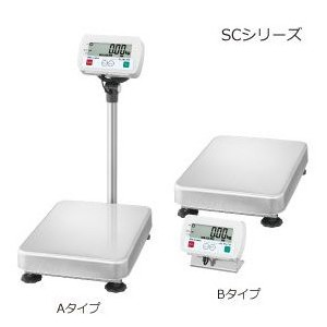 A&D 検定付き 防塵・防水デジタル台はかり セパレート型 SC-60KBM-K (秤量:60kg)