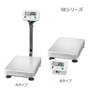 A&D 検定付き 防塵・防水デジタル台はかり 一体型 SE-60KAM-K (秤量:60kg)