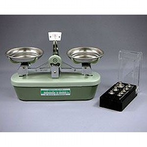村上衡器 普通型上皿天びん MS型 MS-100 分銅付 (秤量:100g)