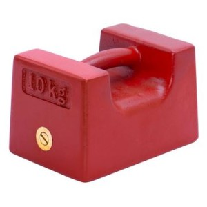 枕型校正用分銅 塗装鋳鉄 AD1606シリーズ A D �正規品新品未使用品 セール価格 10kg M2級 枕型分銅 AD1606-10KM2