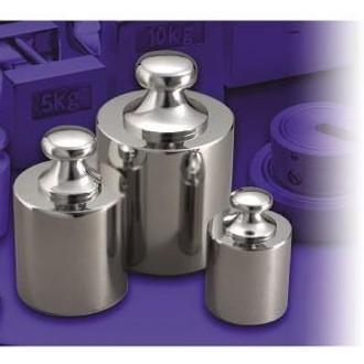 大正天びん(新光電子) 基準分銅型円筒分銅 (黄銅クロムメッキ) M1級(2級) 5kg M1CBB-5K