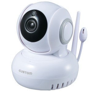 CUSTOM カスタム 温湿度計センサー付きIPカメラ IPC-02TH