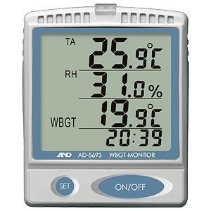 A&D 壁掛・卓上型 熱中症指数モニター AD-5693