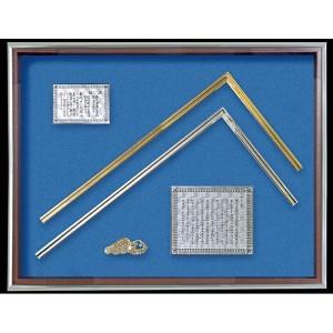 超激安 シンワ測定 金銀曲尺 額セット 金墨壺付 98760, テソロ f5a42eaf