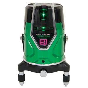シンワ測定 レーザーロボ グリーン Neo E Sensor 51 横・大矩・通り芯×2・地墨 71605