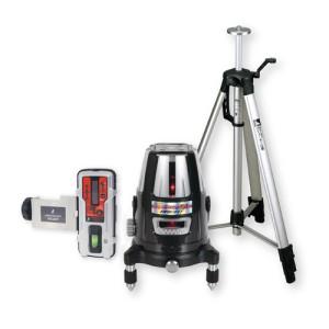 各種基準出しに  シンワ測定 レーザーロボ Neo 51 BRIGHT 受光器・三脚セット 77625