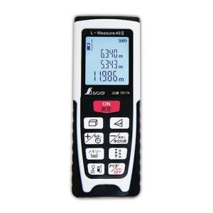 ボタン操作で簡単に距離を測定  シンワ測定 レーザー距離計 L-Measure40 II 尺相当表示機能付 78174