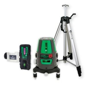 各種基準出しに  シンワ測定 レーザーロボ グリーン Neo 41 BRIGHT 受光器・三脚セット 78291