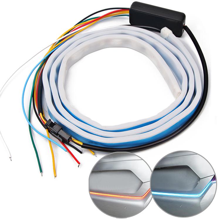 5モード切替 簡単取付 連動点灯 メーカー公式ショップ 防水仕様 流れるウィンカー LEDテープライト 送料込 シーケンシャルウィンカー テールライト 汎用品 120cm シリコンチューブライト SBTL120C