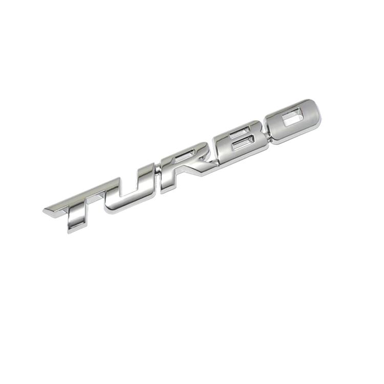 高級感のある金属ステッカー 金属カーステッカー TURBO 直送商品 エンブレム おしゃれ 愛車のドレスアップ LST-CTURB1214 在庫一掃 粘着テープ付き に変装 キズ隠しなどに 取付簡単 3Dステッカー
