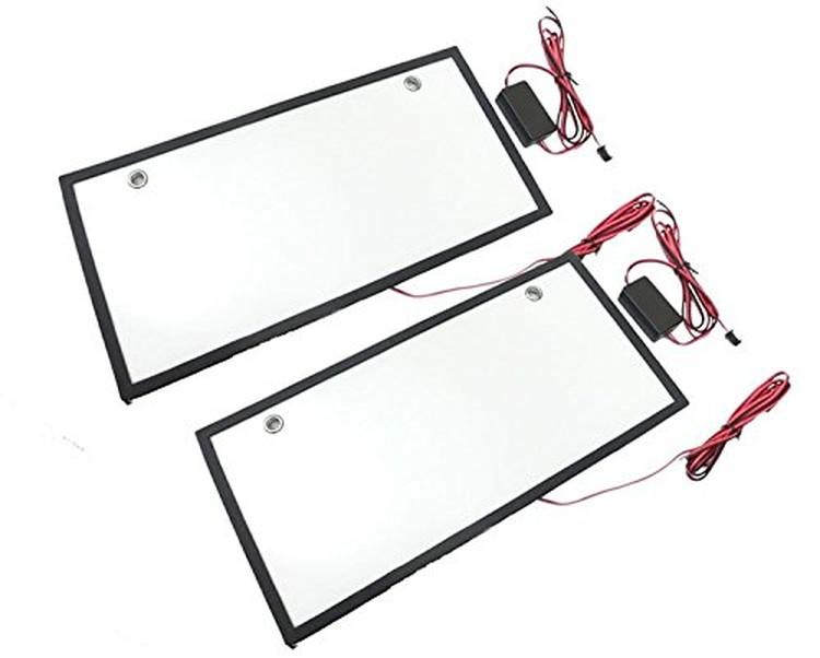 割引 ナンバープレートの裏から光を照射 字光式ナンバープレート用LED お得な2枚セット 全面発光 正規取扱店 12V専用 LST-LED307 薄型