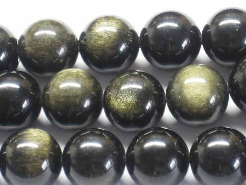 ゴールデンオブシディアン ラウンド12mm 2020 新作 1連 パワーストーン 天然石 ビーズ パーツ ブレスレット 仕入れ 卸 卸売り 通販 1連売り ランキング総合1位 連売り