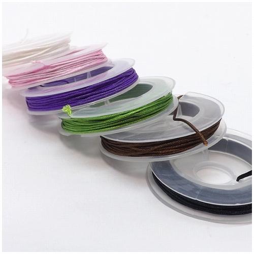 数珠用組紐 高級品 ひも パーツ 卸 卸売り 仕入れ 連売り 0.6mm ブレスレット 通販 カラー6色 編紐 オープニング 大放出セール 長さ6m