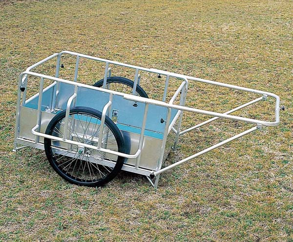 アルミ製折りたたみ式リヤカー 防災用品 救出用品