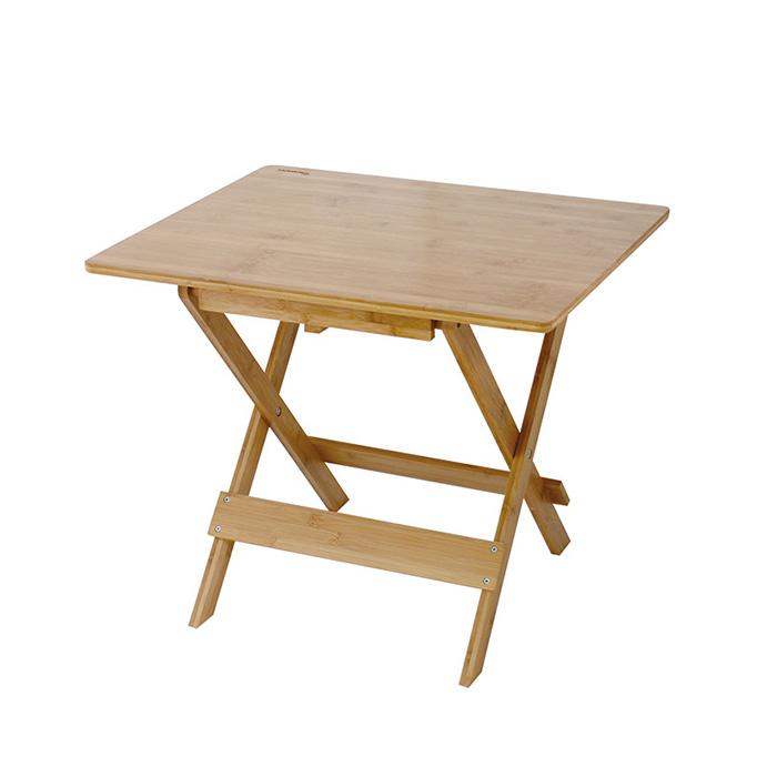 SPICE バカンス 折りたたみバンブーテーブル ミドル KJLF2080【キャンプ バーベキュー ベランダ】