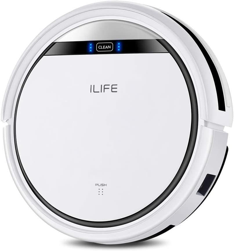 ilife v3s pro ロボット掃除機 自動充電  掃除機 ロボット 一人暮らし 静音 落下防止 強力吸引 衝突防止 ペットの毛 丸型 ホワイト 家電 便利家電 おしゃれ