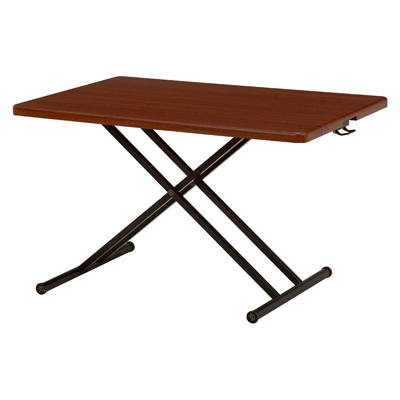 【送料無料】リフティングテーブル ワイドサイズ 選べる2色 ブラウン ナチュラル