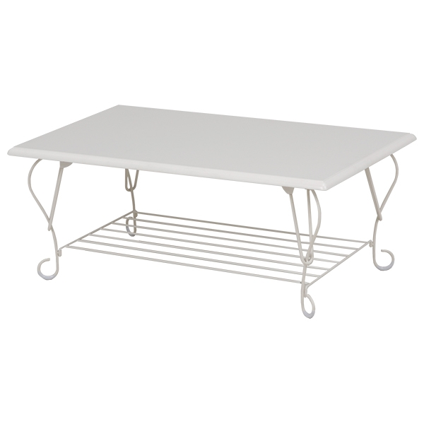 【送料無料】アイアンシリーズ 折れ脚テーブル スクエアタイプ 選べる2色 ホワイト ブラウン