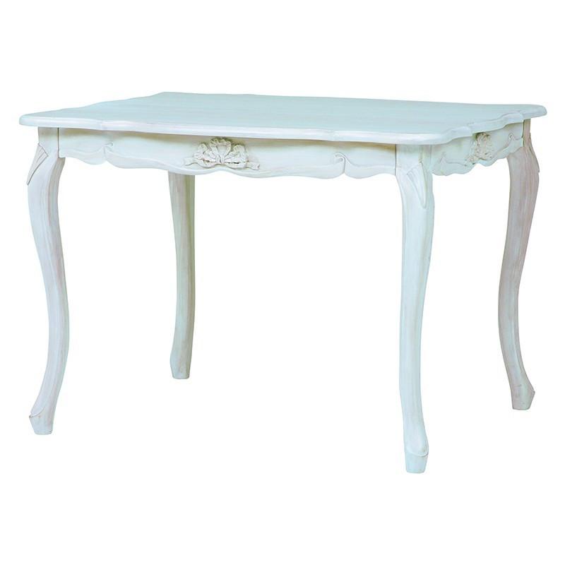 【送料無料】テーブル ハンプトンシリーズ クラシックな上品さとモダンなテイスト アンティーク風 ダイニングテーブル